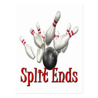 Split Ends Bowling Postcard