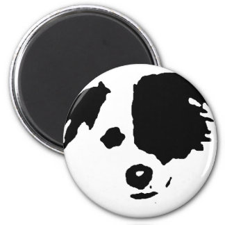 Split Face Border Collie Magnet