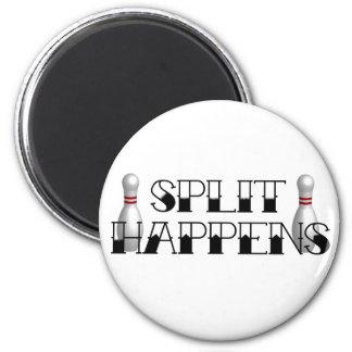 Split Happens! 2 Inch Round Magnet