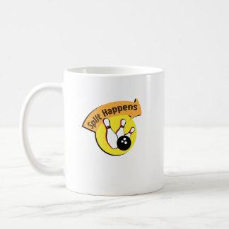 Split Happens Bowling Funny Coffee Mug