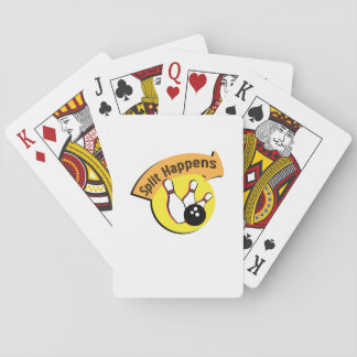 Split Happens Bowling Funny Playing Cards