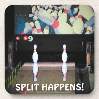 Split Happens Bowling league Coaster