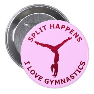 Split Happens - I Love Gymnastics Button