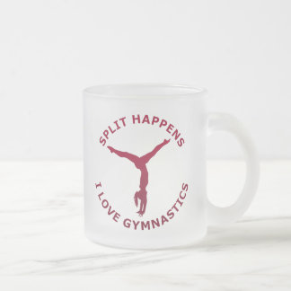 Split Happens - I Love Gymnastics Frosted Glass Coffee Mug