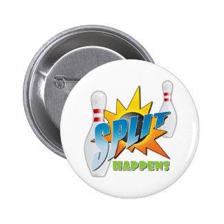 Split Happens Logo 2 Inch Round Button