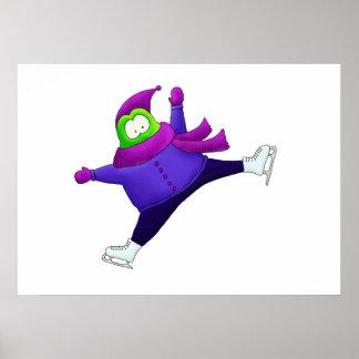Split Jump Figure Skating Frog Print
