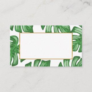 Split Leaf Philodendron Summer Flat Place Card