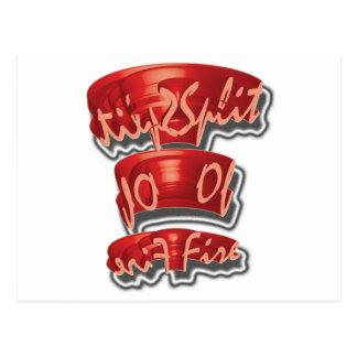 Split Of Fire 3D 3DD Half Round Postcard