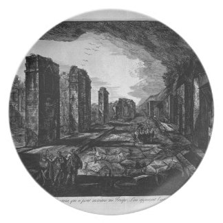 Split on the previous plan by Giovanni Battista Melamine Plate