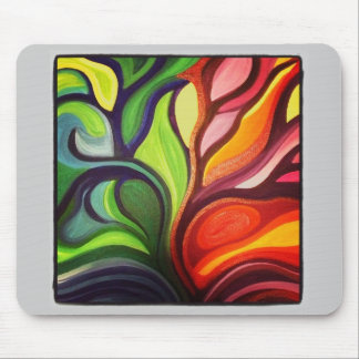Split Panel Nature Painting Mouse Pad