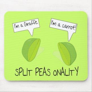Split Peas onality Mousepad mousepad