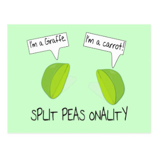 Split Peas onality Postcard