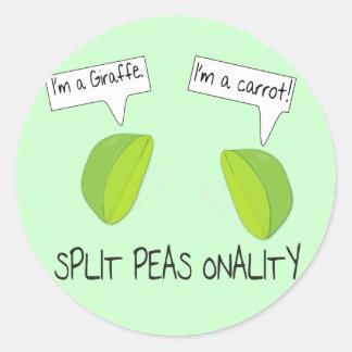 Split Peas onality Sticker