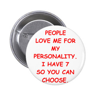 split personality 2 inch round button