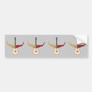 Split Personality Guitar Bumper Sticker