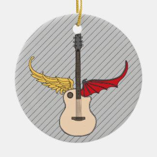 Split Personality Guitar Ceramic Ornament