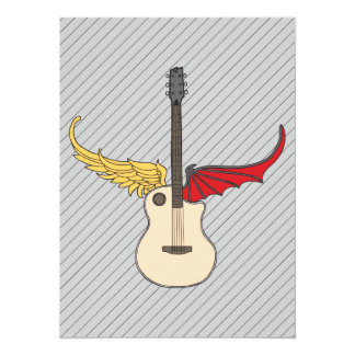 Split Personality Guitar Personalized Invites