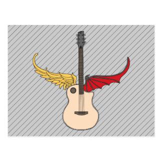 Split Personality Guitar Postcard