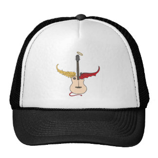 Split Personality Guitar (w/ tail halo) Trucker Hat