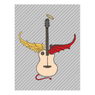 Split Personality Guitar (w/ tail halo) Postcard