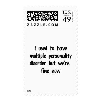 Split Personality Postage Stamps