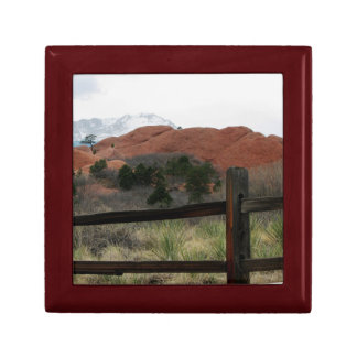 Split Rail Fence with View of Pike's Peak Gift Box