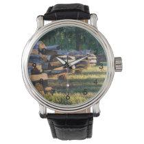Split Rail Fence Wrist Watch