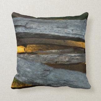 Split Rail Texture Throw Pillow
