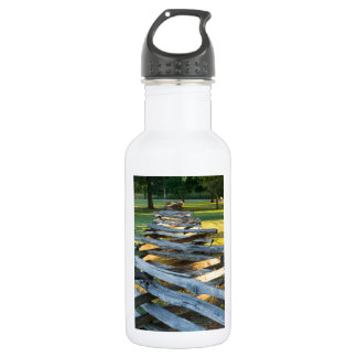 Split Rail Zig Zag Stainless Steel Water Bottle