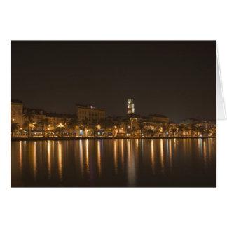 Split Riva at night Greeting Card