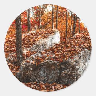 Split Rock Autumn Classic Round Sticker