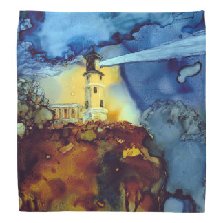 Split Rock Lighthouse At Night Bandana