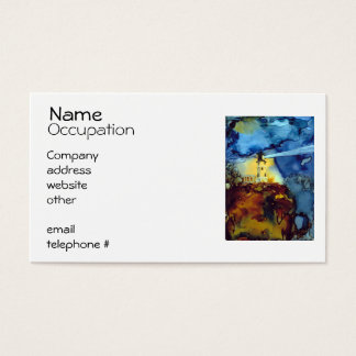 Split Rock Lighthouse At Night Business Card