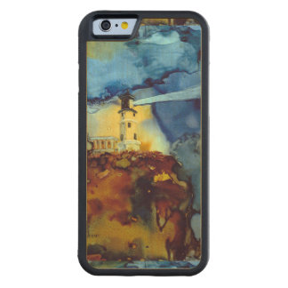 Split Rock Lighthouse At Night Carved® Maple iPhone 6 Bumper