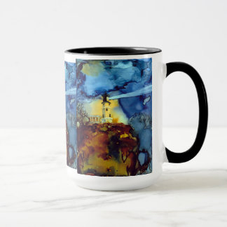 Split Rock Lighthouse At Night Mug