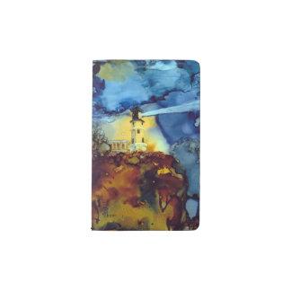 Split Rock Lighthouse At Night Pocket Moleskine Notebook