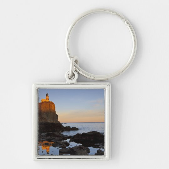 Split Rock Lighthouse at sunset near Two Keychain