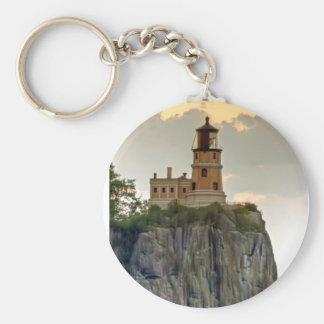 Split Rock Lighthouse Close-up Key Chains
