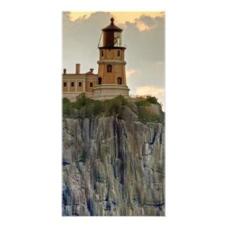 Split Rock Lighthouse Close-up Personalized Photo Card