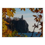 Split Rock Lighthouse in Fall Greeting Card