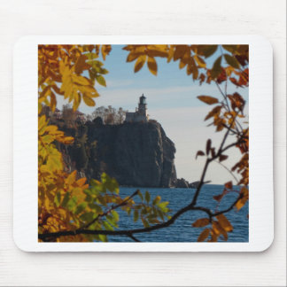 Split Rock Lighthouse in the Fall Mouse Pad