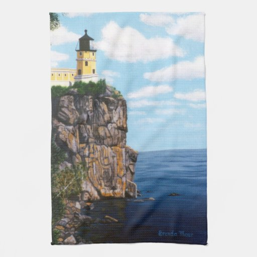 Split Rock Lighthouse Kitchen Towels