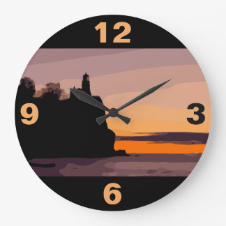 SPLIT ROCK LIGHTHOUSE LARGE CLOCK