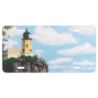Split Rock Lighthouse License Plate