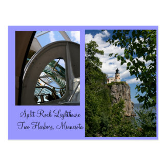 Split Rock Lighthouse & Prism Postcard