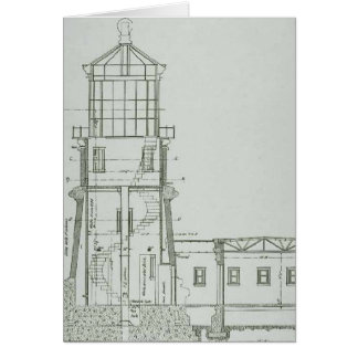 Split Rock Lighthouse Schematics Card