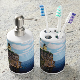 Split Rock Lighthouse Soap Dispenser & Toothbrush Holder