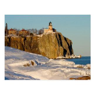 Split Rock Lighthouse State Park on Lake Post Card