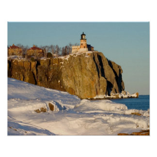 Split Rock Lighthouse State Park on Lake Poster