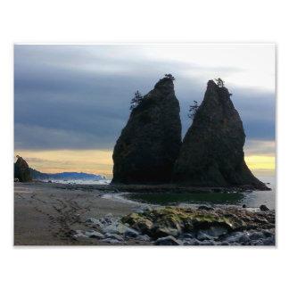 Split rock on Rialto Beach Olympic National Park Photo Print